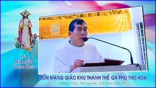 Lễ Mình Máu Thánh Chúa Kitô/Bổn mạng Giáo Khu Thánh Thể/Giáo xứ Phú Thọ Hoà