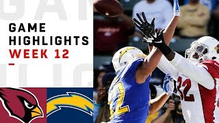 Cardinals vs. Chargers Week 12 Highlights | NFL 2018
