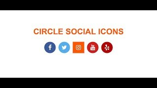 How to Create Circle Social icons with Font Awesome icon hover effect