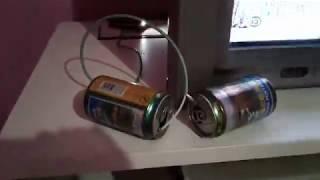 Antena TV indoor sederhana dari kaleng bekas bisa digeser untuk dapat channel yang jelas