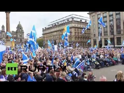 UK: See Catalans join FIRST post-indyref 'Yes' rally in Glas