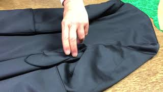 How to fold a cassock well: another lesson at Gammarelli in Rome