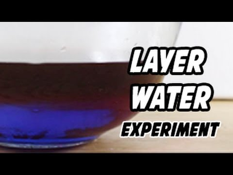 Layer Water Experiment