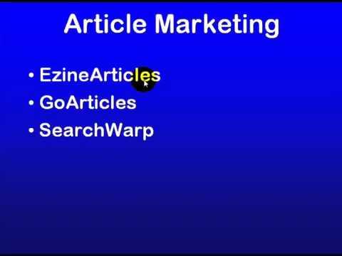 14 - SEO Education 101 Promotion - Article Marketing