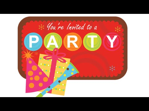Party Invitation Vector design - Coreldraw tutorials