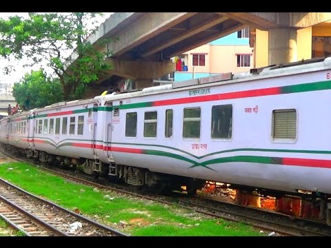Mahanagar Express Train From Kamalapur Railway Station Running Towards Chittagong