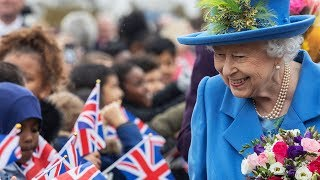 Children shout 'You're the best Queen in the world' to monarch during royal visit