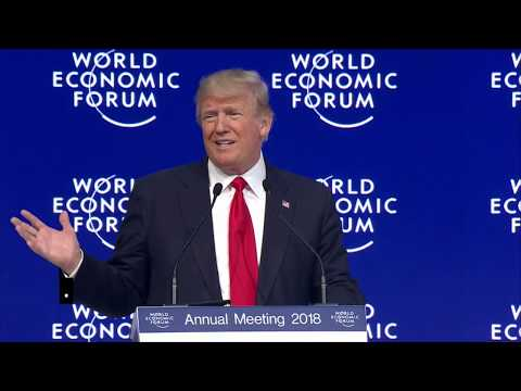 Donald Trump speaks at Davos 2018