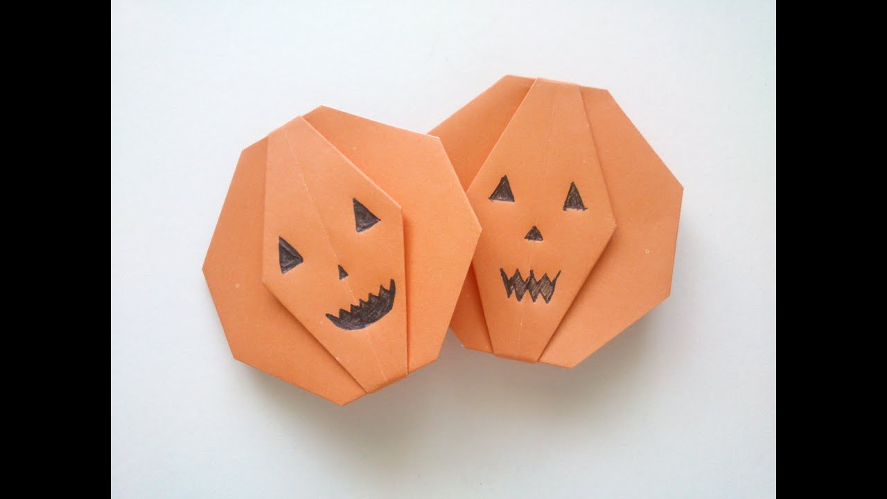 Halloween origami pumpkin tutorial youtube halloween origami pumpkin tutorial jeuxipadfo Gallery