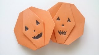 Halloween Origami Pumpkin Tutorial