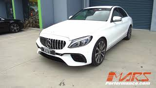 Mars performance amg e63-s style front bumper bar for mercedes-benz c-class w205 sedan & s205 wagon c205 coupelink to purchase:https://marsperformance.com....