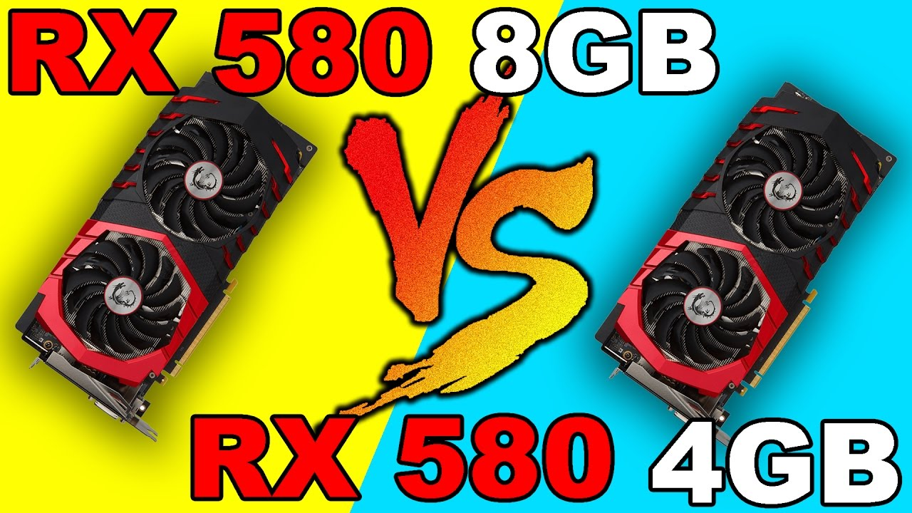 RX 580 8GB VS RX 580 4GB | DX12 AND DX11 | Comparison