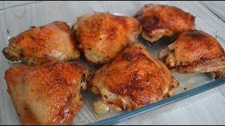 Куриные бедра в духовке с соевым соусом — пальчики оближешь!
