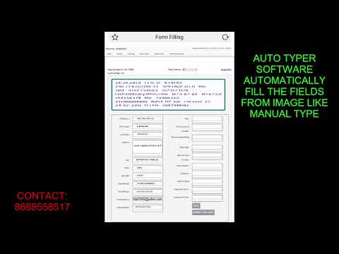 PHARMA FORM FILLING AUTO TYPER SOFTWARE : u/sushantdataservice