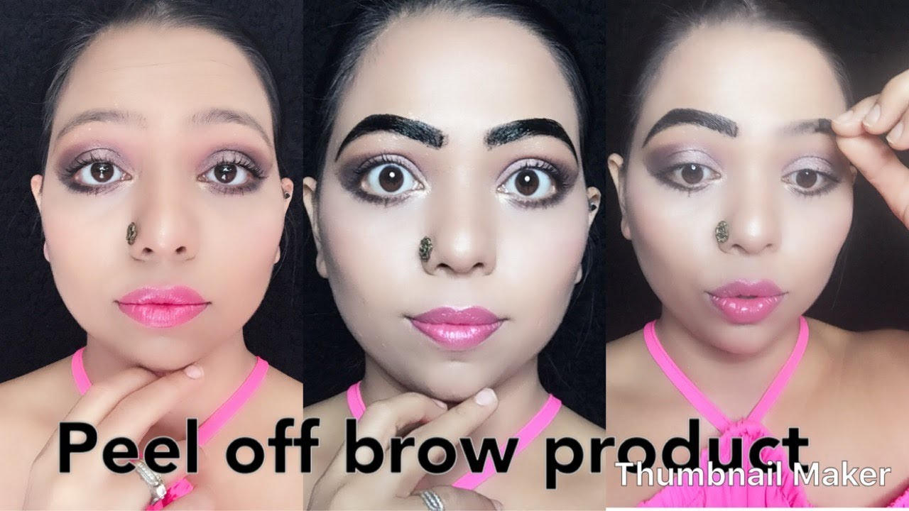 Eyebrow Tint Almay Long Lasting Brow Color Peel Off Review Youtube