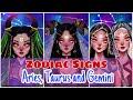 Procreate art on iPad Pro time lapse video-Zodiac signs || Aries, Taurus and Gemini