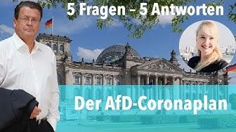Der AfD-Coronaplan (5 Fragen - 5 Antworten)