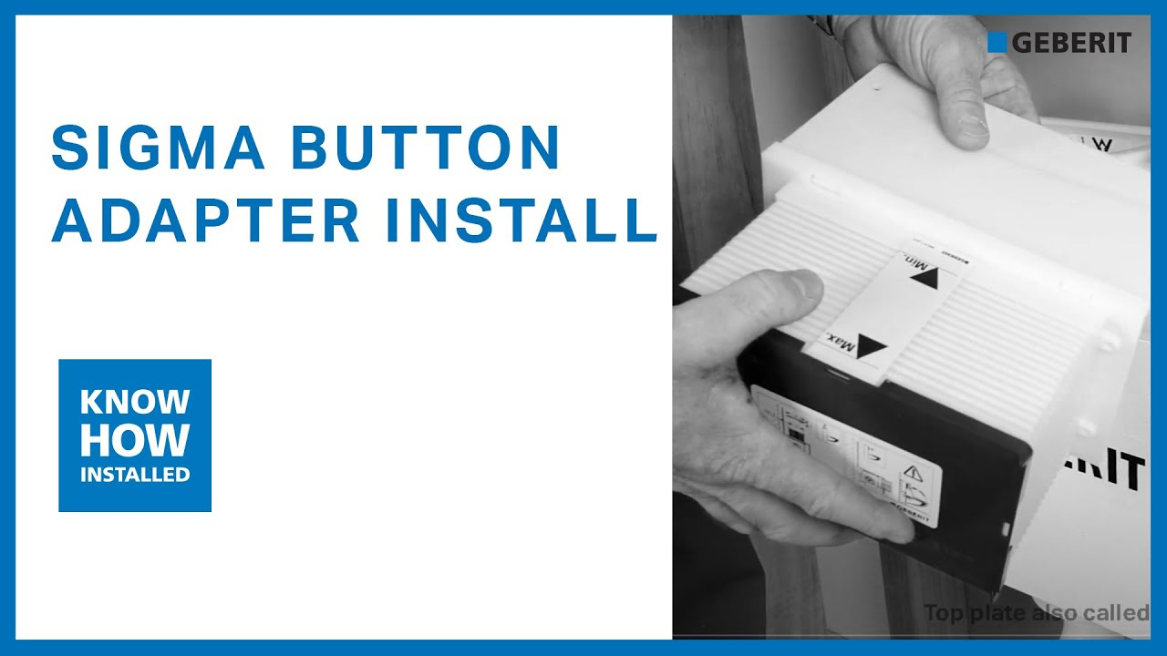 Geberit Sigma Adaptor Installation Sigma Button With Kappa Cistern