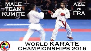Download Video BRONZE (2/4) Male Team Kumite AZE vs FRA. 2016 World Karate Championships MP3 3GP MP4