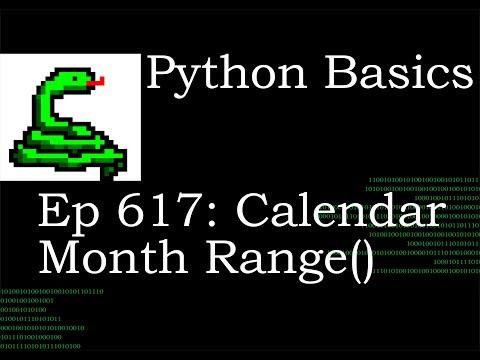 Python Basics Tutorial Calendar Month Range Function thumbnail