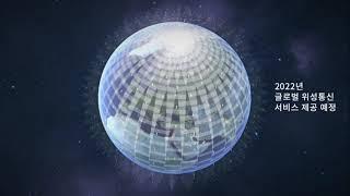 저궤도 위성통신 개념 모션그래픽