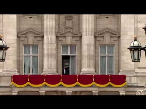 Royal flypast and First Public Appearance of Princess Charlotte - Trooping The Colour 2016.