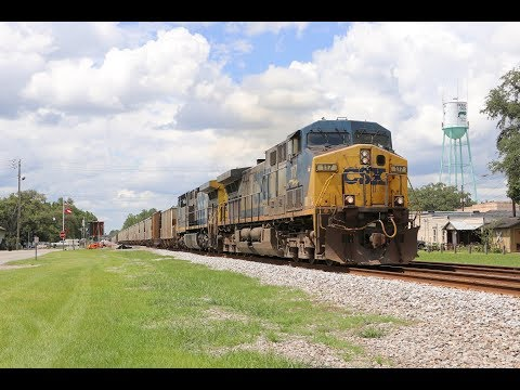 [4K] Awesome Railfanning In Folkston, GA! CSX A-Line | Part 1 [7-10-19]