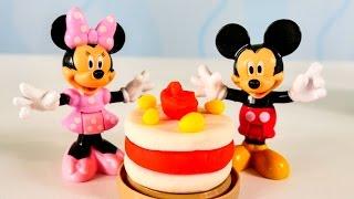 Микки и Минни Маус пекут торт Play Doh
