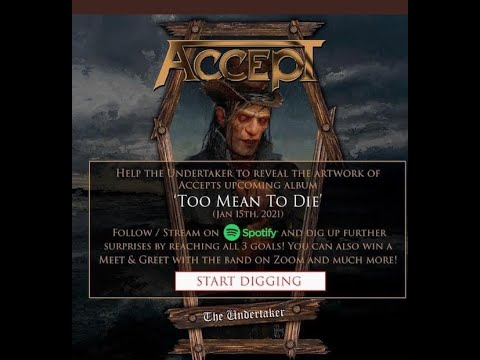 ACCEPT new album Too Mean To Die cover art reveal goals new song The Undertaker