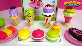 Ice Cream Toy Learning for Kids Learn Colors & Teach Shapes Fun Wooden Cupcake Toys for Kids!