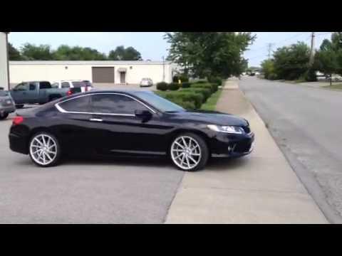 20 Inch Vossen Cvt Wheels On 2014 Accord Lowered Youtube
