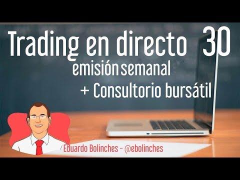 Trading en directo + Consultorio bursátil con Eduardo Bolinches - Sesión 30