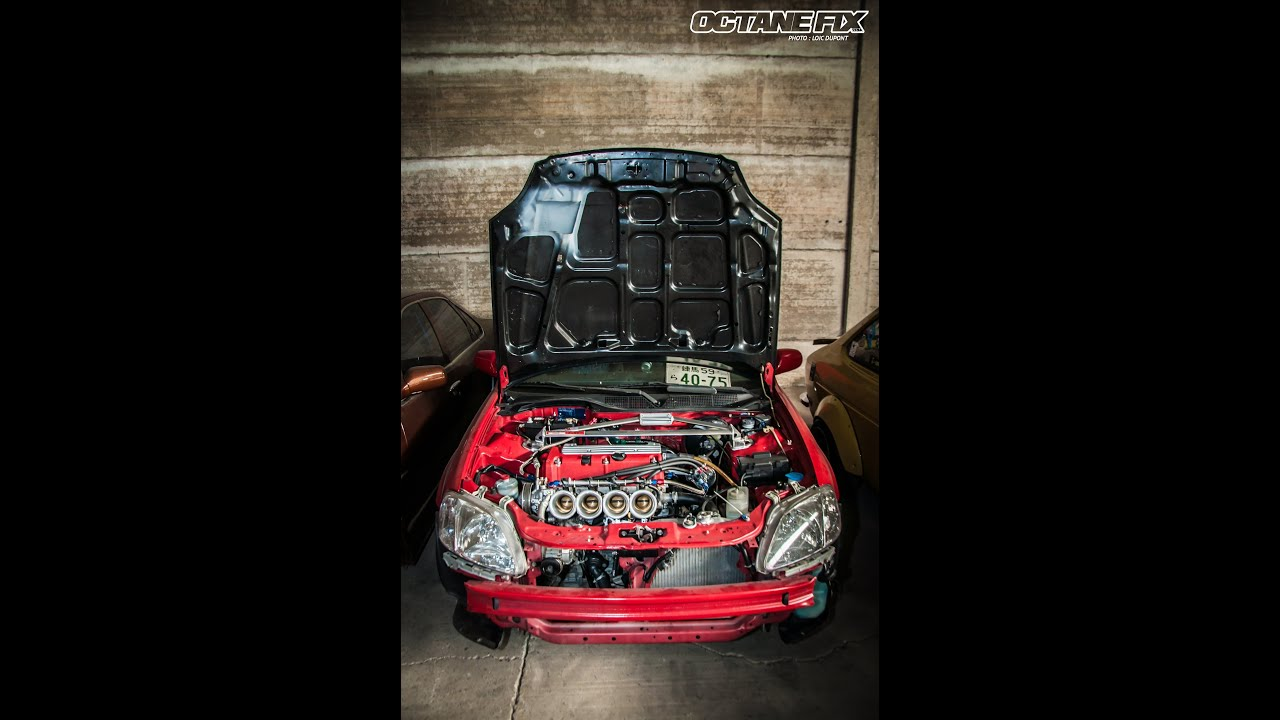 honda civic 2000' k20 swap ej9 =ek20 ITB - YouTube