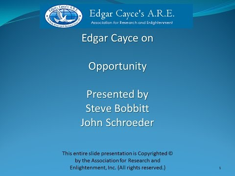 Edgar Cayce on Opportunity
