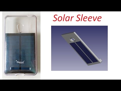 solar powered sleeve for mobile phones