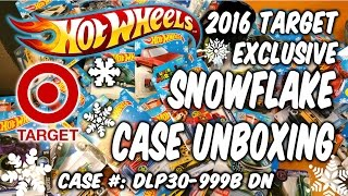 "2016 SNOWFLAKE Hot Wheels ""B"" or ""C"" CASE UNBOXING vid - Target"