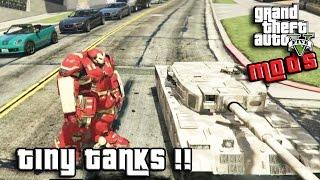 GTA 5 MOD ITA - MINI CARRO ARMATO + IRON MAN - TINY TANKS GTA 5 GAMEPLAY ITA