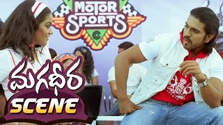 Ram Charan Extreme Bike Stunt || Magadheera Telugu Movie || Geetha Arts