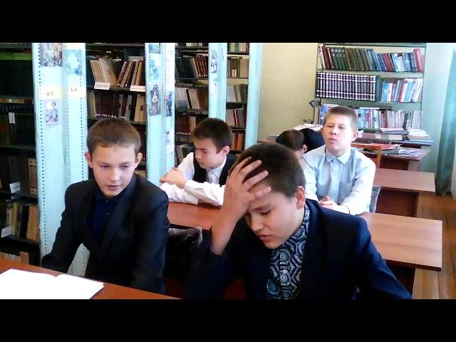 Изображение предпросмотра прочтения – «коллектив 7 класса» представляет буктрейлер кпроизведению «Витя Малеев в школе и дома» Н.Н.Носова