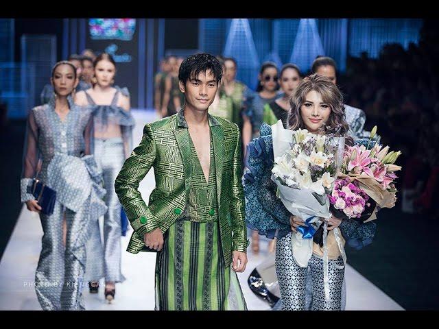 HỒ NGỌC HÀ trong trang phục của Thương hiệu thời trang Claret Giang Le tại VNIFW 2017