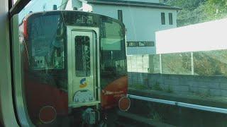湘南新宿ライン普通宇都宮行きE233系2542YU35+E233系U629の8号車モハE232-3029両から見た、甲種輸送しなの鉄道SR1系S201+S202編成とJR逗子〜戸塚駅間の右側面展望!