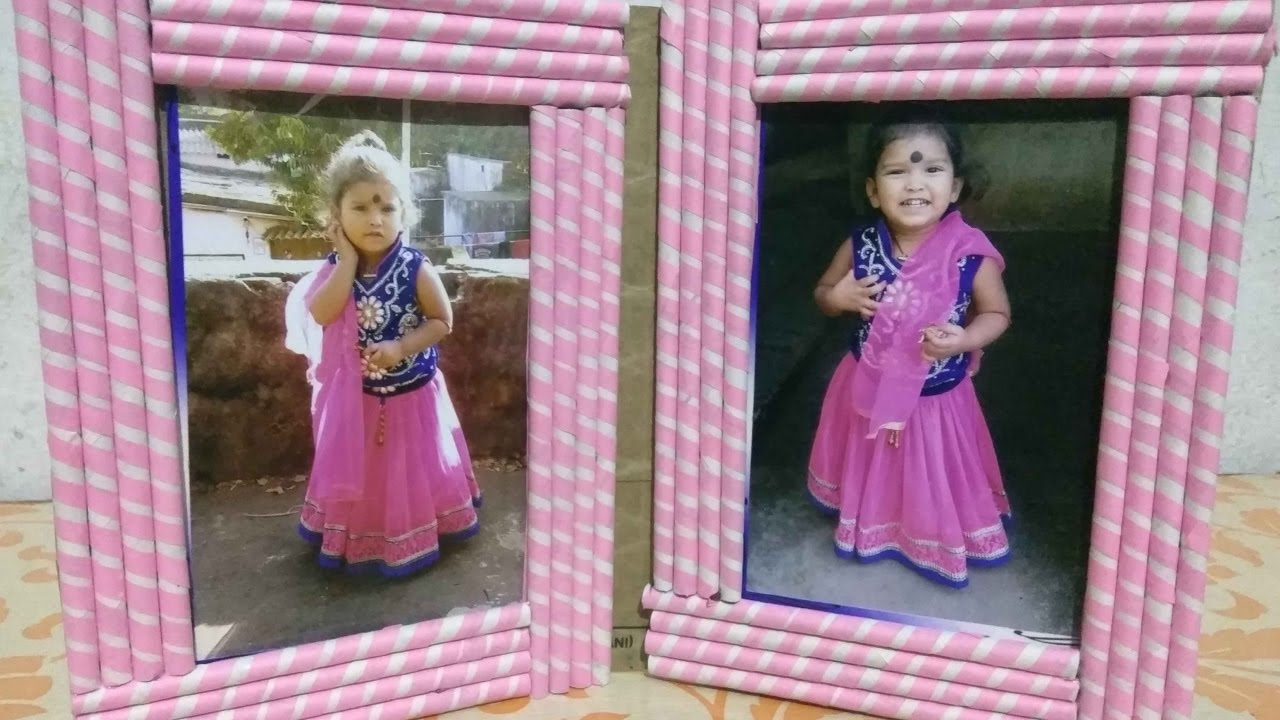 How To Make Photo Frame With Waste Paper 2kids All Art Craft