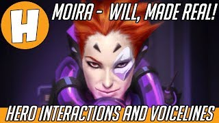 Overwatch - Moira Interactions, Voice Lines and Lore - Will Made Real! | Hammeh