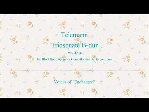 Telemann : Triosonata B flat major (TWV 42:B4) for Recorder, Cembalo and Basso continuo