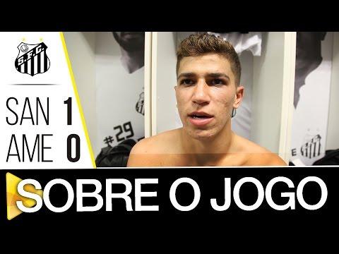 Victor Ferraz, Bueno e David Braz comentam a vitória sobre o América-MG