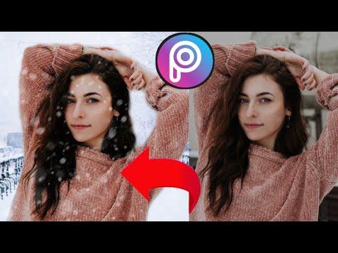 КАК ИЗМЕНИТЬ ФОН В PicsArt ? // Picsart уроки фотошопа // Picsart ( пиксарт ) Уроки снег эффект 2019