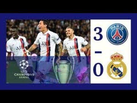 Real Madrid vs PSG (0-3) Highlights Goals -Di Maria & Champions League