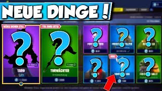 ❌NEUES EMOTE - SKINS en SHOP!! 😱 - NEW OBJECT SHOP à FORTNITE est DA!