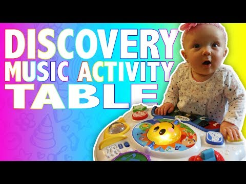 RYLEE IS A BABY EINSTEIN! Adorable reaction to the music table | Toy Review VIdeo