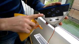 Видео обзор магнитной щетки для мытья окон (4-40 мм), с регулируемой мощностью магнита